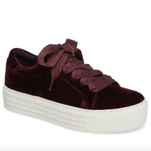 $72 (原价$119.95)KENNETH COLE NEW YORK 丝绒厚底休闲鞋 3色