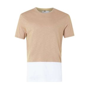 Tan and White Panel T-Shirt - View All Sale - Sale - TOPMAN USA