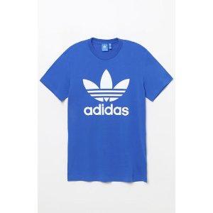 adidas Trefoil Blue & White T-Shirt at PacSun.com