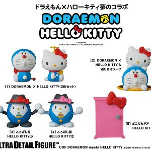 From $8.72 UDF DORAEMON meets HELLO KITTY Figure
