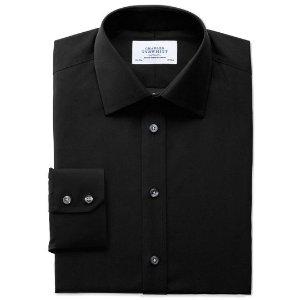 Classic fit non-iron black shirt