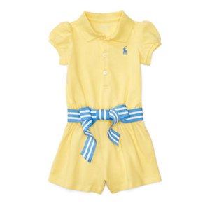 Cotton Polo Romper - Dresses & Rompers � BABY GIRL (0-24 months) - RalphLauren.com