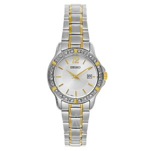 $69 SEIKO Women's Crystal Dress Watch SUR718