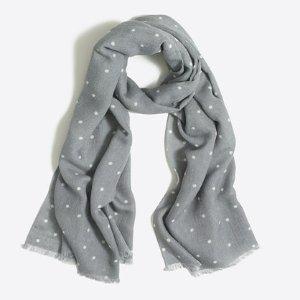 Polka-dot scarf : Scarves & Bandanas | J.Crew Factory