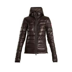 Hybridge hooded quilted-down jacket