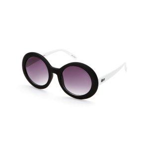 Black & White Outside Squad Round Sunglasses - Century 21