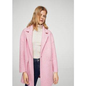 Unstructured wool-blend coat - Women | MANGO USA