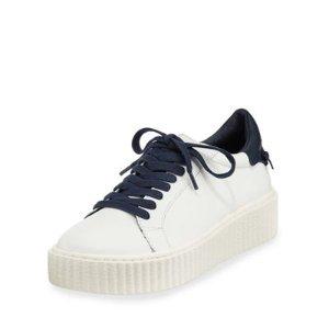JSlides Parker Leather Platform Sneaker