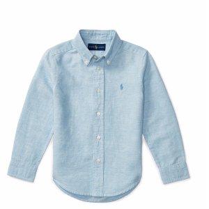 Linen-Cotton Chambray Shirt - Long Sleeve � Casual Shirts - RalphLauren.com