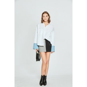 Contrast Cuff Shirt TP1832
