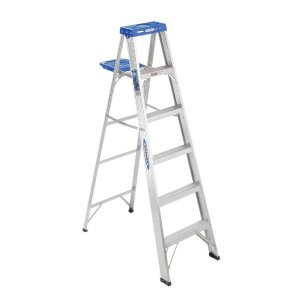 Werner 6 ft. Aluminum Step Ladder with 250 lb. Load Capacity Type I Duty Rating-366 - The Home Depot
