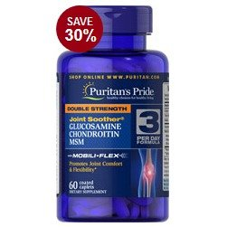6 for $20.98Double Strength Glucosamine, Chondroitin & MSM Joint Soother