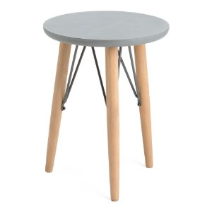 Round Mix Media Accent Table - Accent Furniture - T.J.Maxx
