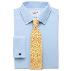 Slim fit non-iron twill sky blue shirt | Charles Tyrwhitt