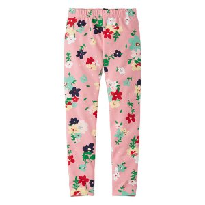 Hanna Andersson Starfish Pink Floral Livable Leggings | zulily