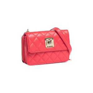 Moschino Jc4118 0505 Red Crossbody/Wallet On A Chain Bag | Bluefly.Com