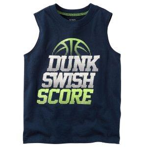 Kid Boy Dunk Swish Score Muscle Tee | Carters.com