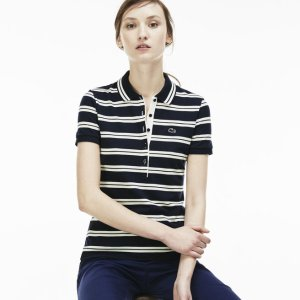 Women's Slim Fit Stripe Polo Shirt | LACOSTE