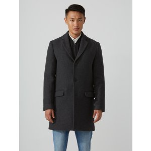 The Lawrence Wool-Blend Topcoat in Mixed Grey