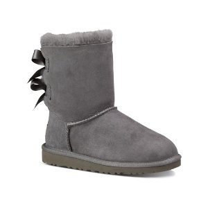 UGG® Gray Bailey Bow Boot - Toddler | zulily