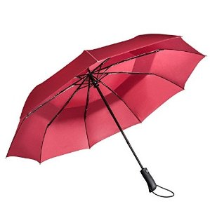 Vanwalk Double Canopy Windproof Folding Umbrella - Auto Open Close - 9 Ribs - 45in- VANWALK Golf Travel Umbrella