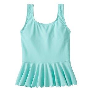 Girls Scallop Flounce Tankini Top | Sale 20% Off Swimwear Girls