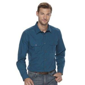 Men's Apt. 9 Modern-Fit Roll-Tab Button-Down Shirt