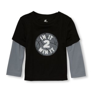 Toddler Boys PLACE Sport Long Sleeve Graphic Faux-Layered Top | The Children's Place