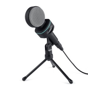 AUKEY Condenser Microphone and Tripod Stand for Desktop Computers