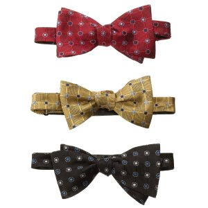 Executive Collection Grid with Circle Bow Tie CLEARANCE - Ties | Jos A Bank
