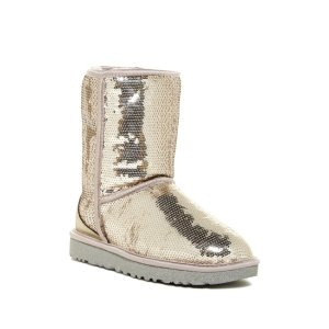 Classic Short Sparkles Genuine Shearling Lined Boot