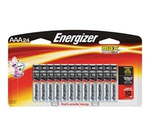 $6.43 史低价Energizer 劲量AAA 电池24个