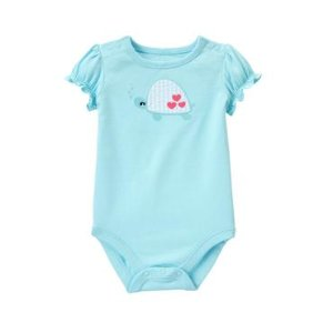 Baby Pool Blue Sea Turtle Bodysuit by Gymboree