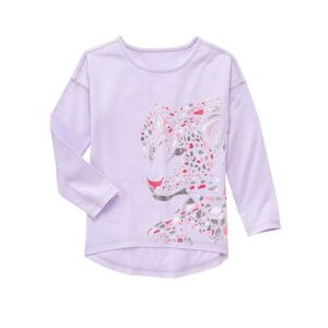 Girls Lilac Leopard Tee by Gymboree