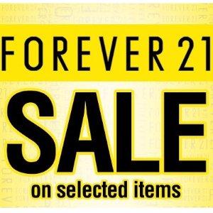 全场五折黒五价:Forever 21 美衣、美鞋、饰品等party必备款特卖会