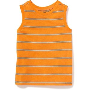 Striped Muscle Tank for Toddler Boys