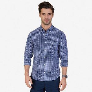 Slim Fit Wrinkle Resistant Windowpane Shirt