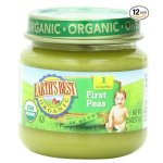 Earth's Best Organic Stage 1, Peas, 2.5 Ounce Jar (Pack of 12)