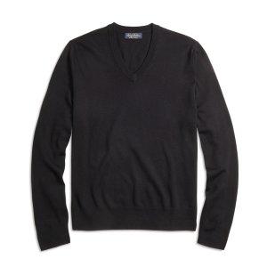 Men's Saxxon Wool V-Neck Sweater | Brooks Brothers
