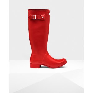 Womens Red Packable Rain Boots | Official Hunter Boots Store