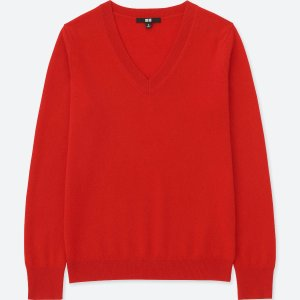 WOMEN CASHMERE V-NECK SWEATER
