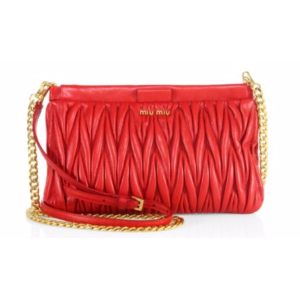Miu Miu - Matelass� Leather Chain Crossbody Bag - saks.com