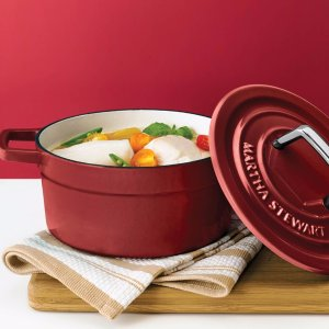 Last Day: $39.99 After RebateMartha Stewart Collection Collector's Enameled Cast Iron 6 Qt. Round Dutch Oven, Created for Macy's
