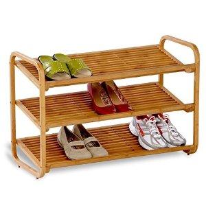 $19.12 Honey-Can-Do SHO-01599 Bamboo 3-Tier Shoe Shelf