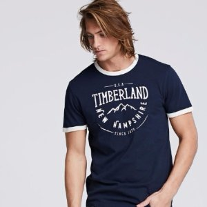 Extra 43% OFFTimberland Men's LOGO T-Shirt Sale