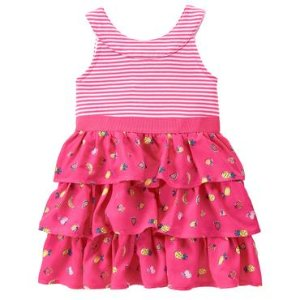 Toddler Girls Poppy Pink Ruffle Dress by Gymboree
