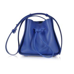 3.1 Phillip Lim Cobalt Blue Soleil Mini Drawstring Bucket Bag