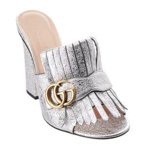 Gucci Gucci Maramont Metallic Leather Mule | Bluefly.Com