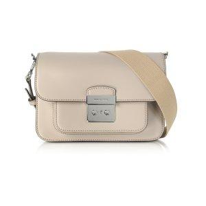 Michael Kors Sloan Editor Large Cement Leather Shoulder Bag