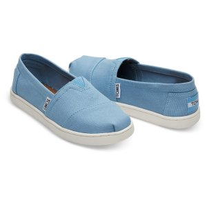 Cornflower Blue Canvas Youth Classics | TOMS®